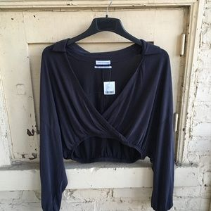 Urban Outfitters Long-Sleeve Crop Top